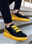 Sarı Siyah Lastikli Erkek Spor Ayakkabı Legend
