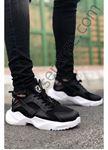 Siyah Beyaz Mekanik Ultra Hafif Erkek Spor Ayakkabı