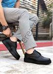 Siyah Deri Tarz Erkek Klasik Ayakkabı
