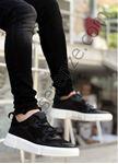 Siyah Fileli Erkek Spor Ayakkabı