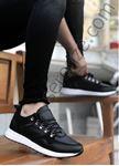 Siyah Kancalı Ortopedik Erkek Spor Ayakkabı