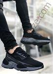 Siyah Füme Sportif Triko Erkek Spor Ayakkabı