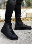 Siyah Önü Fırfırlı Bot Model Erkek Spor Ayakkabı