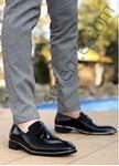 Siyah Rugan Gümüş Detay Erkek Klasik Ayakkabı