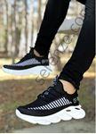 Siyah Örme Triko Tekno Erkek Spor Ayakkabı