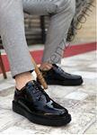 Siyah Rugan Erkek Klasik Ayakkabı