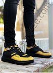 Siyah Sarı Zigzag Detay Erkek Spor Ayakkabı