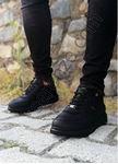 Siyah Zigzag Detay Erkek Spor Ayakkabı