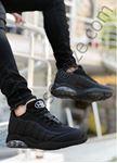 Siyah Çizgi Desen Erkek Basketbol Ayakkabısı