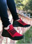 Kırmızı Bağcık Detay Fileli Erkek Spor Ayakkabı