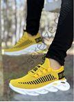 Sarı Örme Triko Tekno Erkek Spor Ayakkabı