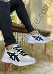 Beyaz Siyah Çizgi Detay Erkek Spor Ayakkabı