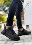Siyah Hakiki Deri Erkek Spor Ayakkabı