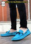 Turkuaz Hakiki Süet Deri Erkek Klasik Ayakkabı