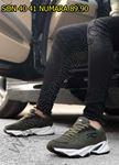 Siyah Detay Haki Erkek Spor Ayakkabı Riccon