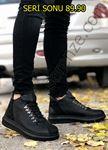 Serenze Oliver Siyah Kancalı Kalın Taban Bot Model Spor Ayakkabı