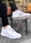Beyaz Deri Tarz Hafif Erkek Spor Ayakkabı
