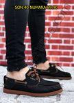 Siyah Taba Keten Erkek Spor Ayakkabı