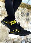 Siyah Kare Desen Triko Erkek Spor Ayakkabı